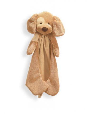 "Baby Gund Spunky Huggybuddy Dog Brown Blanket - 15"" - Personalized"