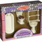 Melissa and Doug Victorian Bathroom Furniture Set - 1 in. Scale - 2584