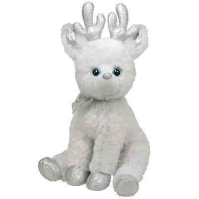 Snowcap 2010 Ty Classic 11in White Plush Reindeer