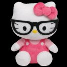 Ty Hello Kitty Beanie Babies ‑ 8 in ‑ Nerd Glasses 40962