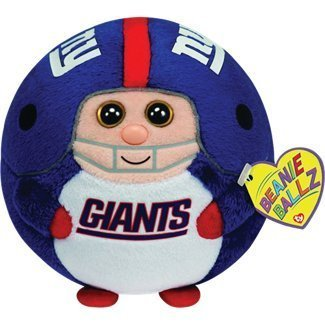 Ty Beanie Ballz New York Giants Plush by TY Beanie Ballz 38088