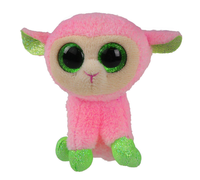 Ty Basket Beanies Babs - Pink Lamb 35198