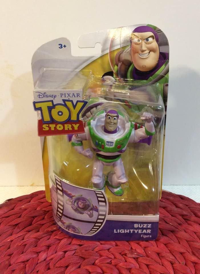 DISNEY PIXAR TOY STORY Buzz Lightyear FIGURE POSABLE IN BOX