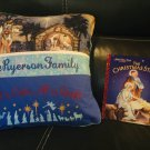 Christmas All is Calm Pocket Pillow Reading Pillow The Christmas Story - Personalized