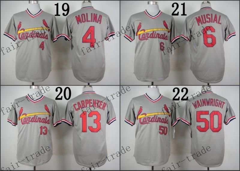 Yadier Molina Matt Carpenter Wainwright Musial St Louis Cardinals Replica Jersey