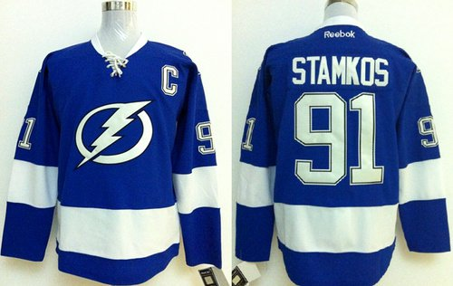 Steven Stamkos #91 Tampa Bay Lightning Replica Hockey Jersey Multiple styles
