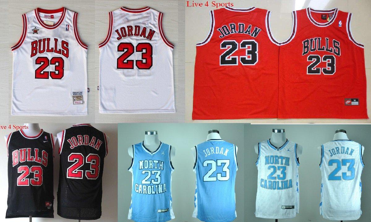 Michael Jordan Chicago Bulls North Carolina Tar Heels #23 Replica Basketball Jersey Multiple Styles