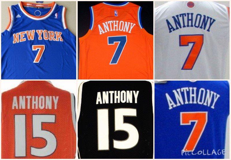 Carmelo Anthony New York Knicks #7 Syracuse #15 Replica Basketball Jersey Multiple Styles