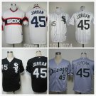 Michael Jordan  Chicago White Sox #45 Replica Baseball Jersey Multiple styles