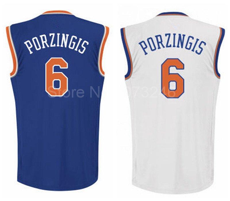 Kristaps Porzingis New York Knicks #6 Replica Basketball Jersey Multiple Styles