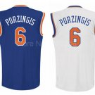 Kristaps Porzingis New York Knicks #6 Replica Basketball Jersey Multiple Styles