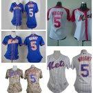 Women's New York Mets David Wright #5 Replica Baseball Jersey Multiple styles
