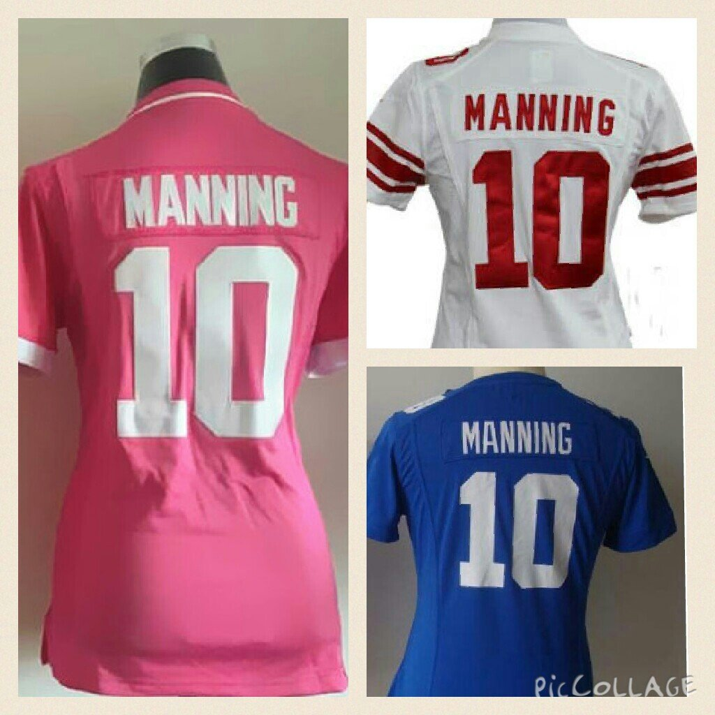 Women's Eli Manning New York Giants #10 Replica Football Jersey Multiple Styles