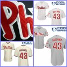Philadelphia Phillies #43 Mario Hollands  Replica Baseball Jersey Multiple styles