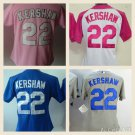 Women's Clayton Kershaw 2015 Los Angeles Dodgers #22 MLB Replica Jersey Multiple styles