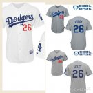 Los Angeles Dodgers #26 Chase Utley Replica Baseball Jersey Multiple styles