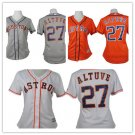 Women's Houston Astros  Jose Altuve #27 MLB  Replica Jersey