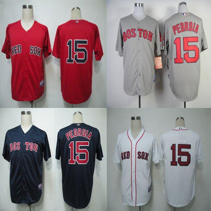 Dustin Pedroia Boston Red Sox #15  MLB Replica Jersey