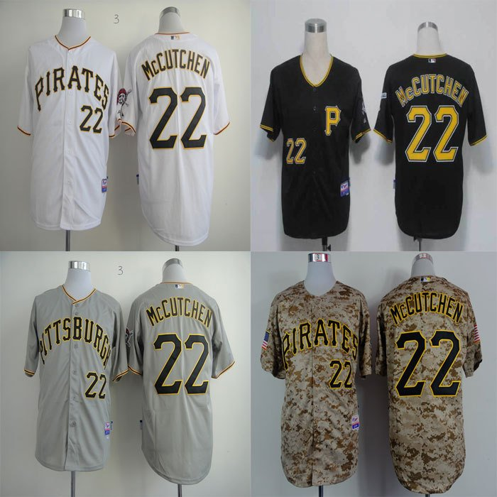 Andrew McCutchen Pittsburgh Pirates #22 MLB Replica Jersey Multiple styles
