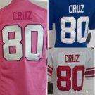 Women's Victor Cruz New York Giants #80  Replica Football Jersey Multiple Styles