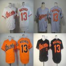 Manny Machado  Baltimore Orioles #13 Replica Baseball Jersey Multiple styles