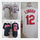 Francisco Lindor Cleveland Indians #12 Replica Baseball Jersey Multiple styles