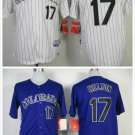 Todd Helton Colorado Rockies #17 Replica Baseball Jersey Multiple styles