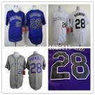 Nolan Arenado Colorado Rockies #28 Replica Baseball Jersey Multiple styles