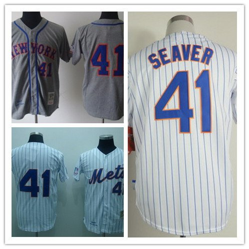 Tom Seaver New York Mets #41 Replica Baseball Jersey Multiple styles