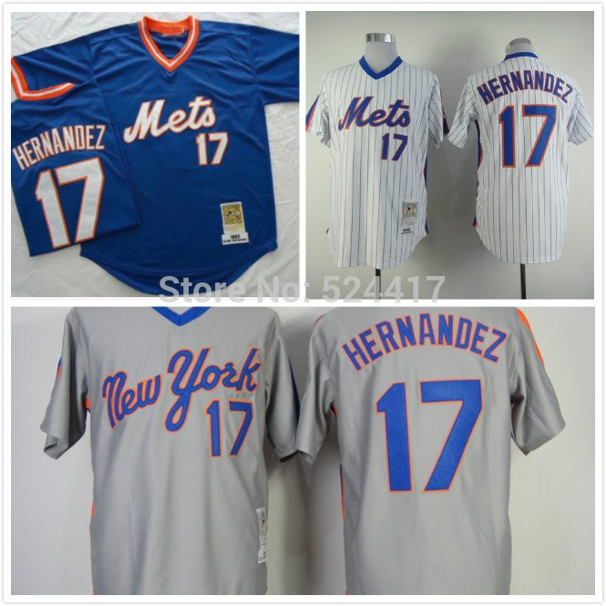 Keith Hernandez  New York Mets #17  Replica Baseball Jersey Multiple styles