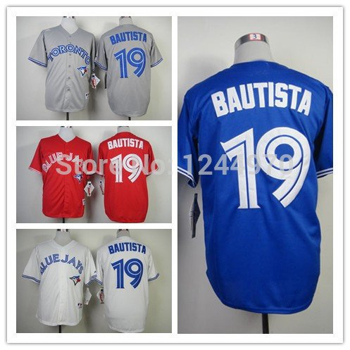 Jose Bautista Toronto Blue Jays  #19  Replica Baseball Jersey Multiple styles