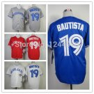 Jose Bautista Toronto Blue Jays  #19  Replica Baseball Jersey Multiple styles