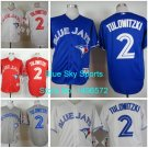 Troy Tulowitzki Toronto Blue Jays  #2  Replica Baseball Jersey Multiple styles