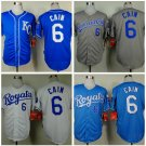 Lorenzo Cain Kansas City Royals #6  Replica Baseball Jersey Multiple styles