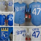 Johnny Cueto Kansas City Royals #47  Replica Baseball Jersey Multiple styles
