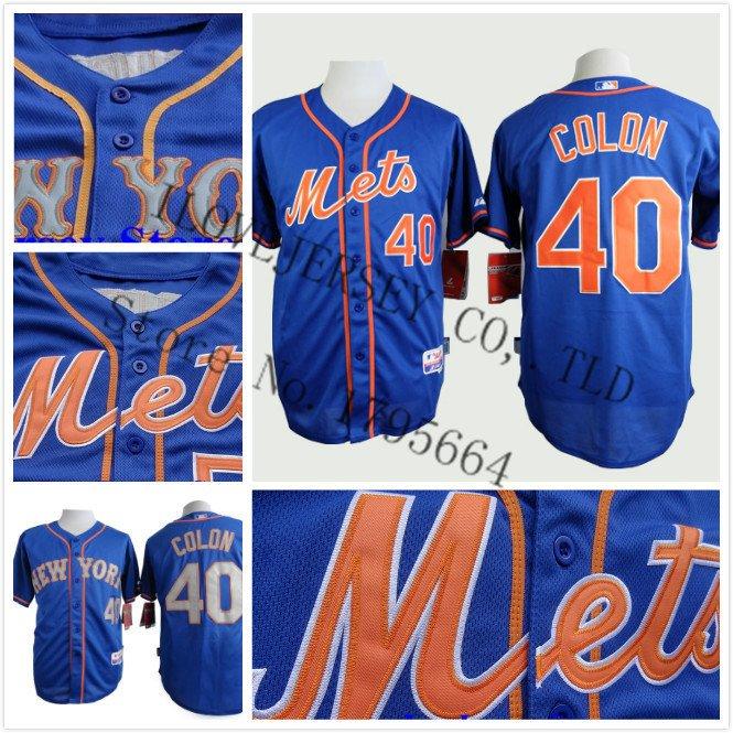 Bartolo Colon New York Mets #40  Replica Baseball Jersey Multiple styles