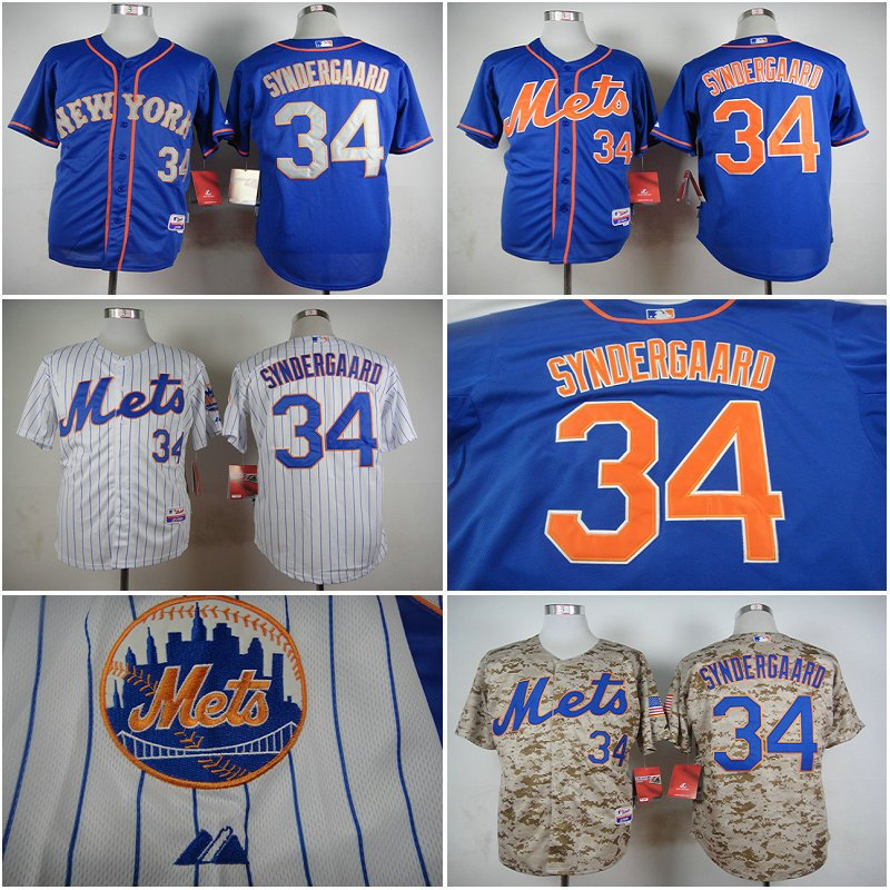 Noah Syndergaard New York Mets #34 Replica Baseball Jersey Multiple styles