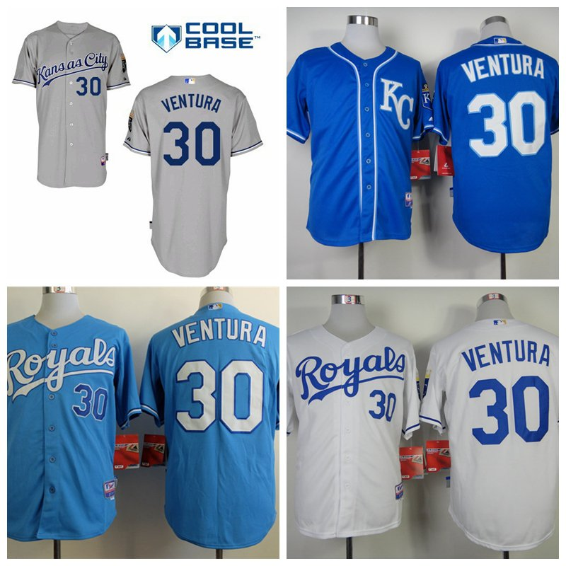 Yordano Ventura  Kansas City Royals #30  Replica Baseball Jersey Multiple styles