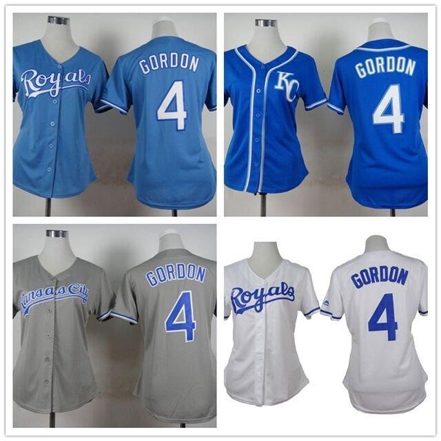 Womens Alex Gordon Kansas City Royals #4  Replica Baseball Jersey Multiple styles
