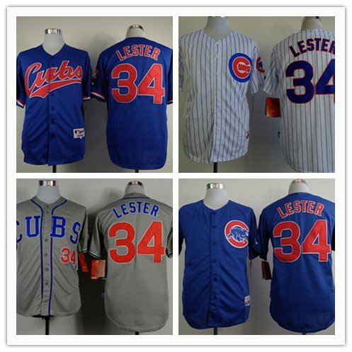 Jon Lester  Chicago Cubs #34 Replica Baseball Jersey Multiple styles