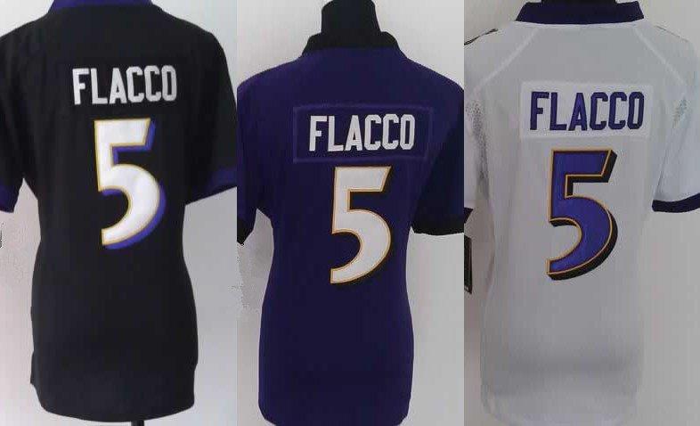 Womens Joe Flacco #5 Baltimore Ravens Replica Football Jersey Multiple Styles