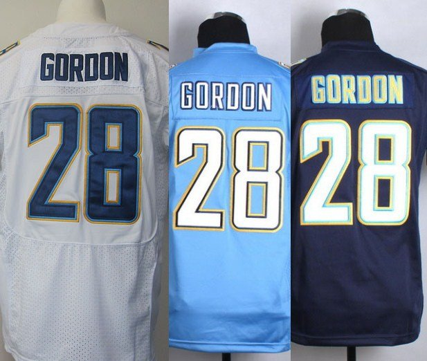 Melvin Gordon #28 San Diego Chargers Replica Football Jersey Multiple Styles