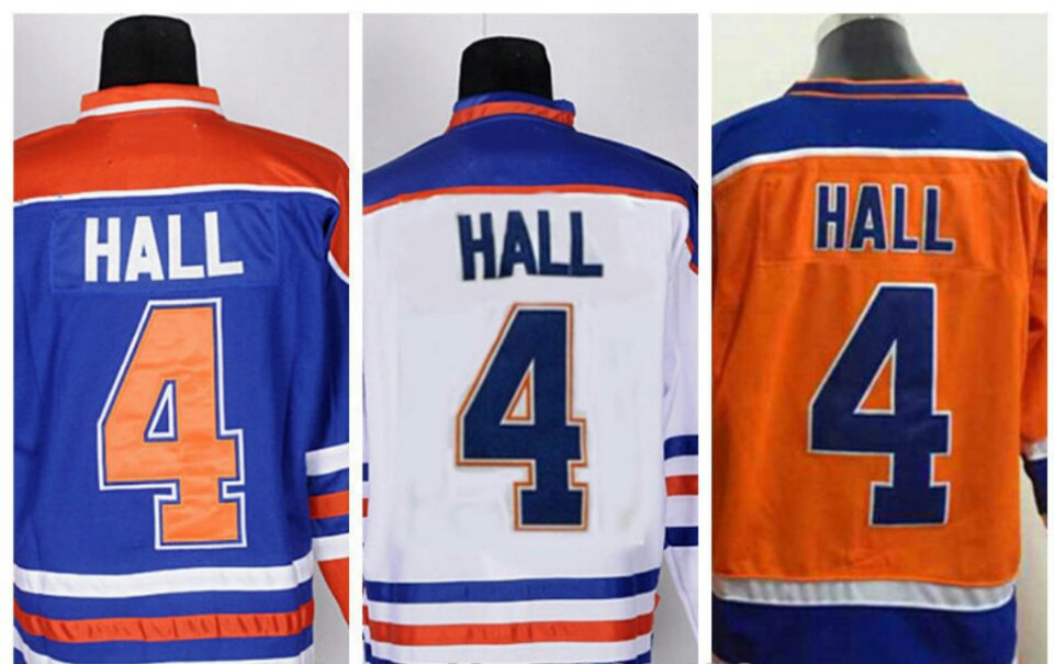 Taylor Hall #4 Edmonton Oilers Replica Hockey Jersey Multiple Styles