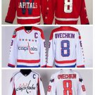 Alexander Ovechkin #8 Washington Capitals Replica Hockey Jersey Multiple styles
