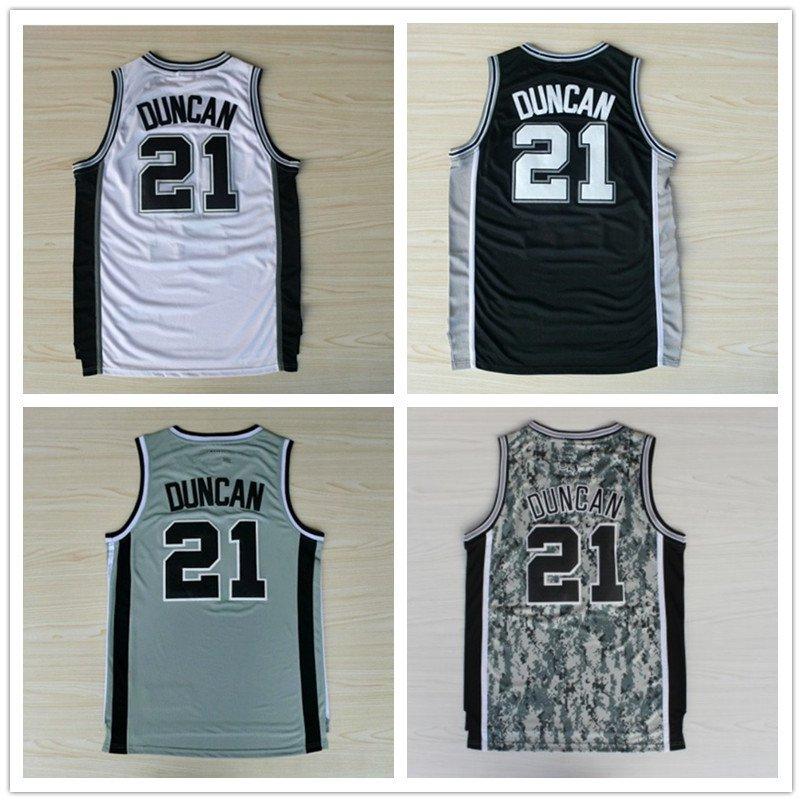 Tim Duncan #21 San Antonio Spurs Replica Basketball Jersey Multiple Styles