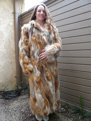 Red Fox Full Length Fur Coat (#03)