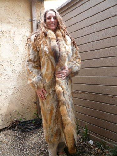 Red Fox Full Length Fur Coat (#04)