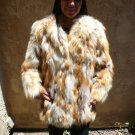 Short Red Fox Fur Jacket (#26)
