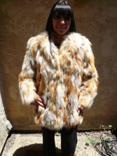 Short Red Fox Fur Jacket (#26)
