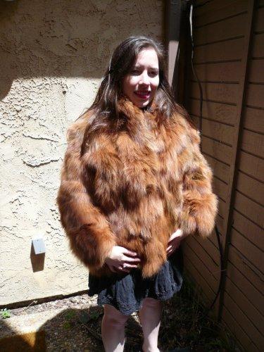 Brown Fox Fur Jacket (#42)